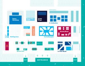KCon LA 2018 | Convention map