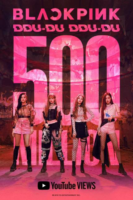 BlackPink DDU-DU DDU-DU 500M Youtube vistas | YG Entertaiment