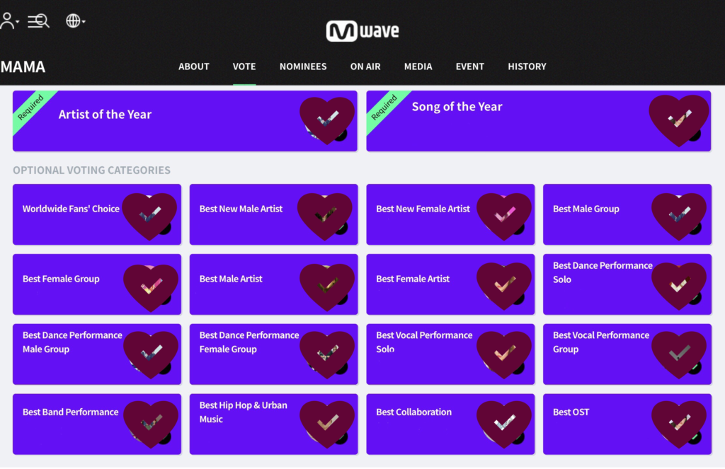 MAMA 2019: Participaciones y Votación