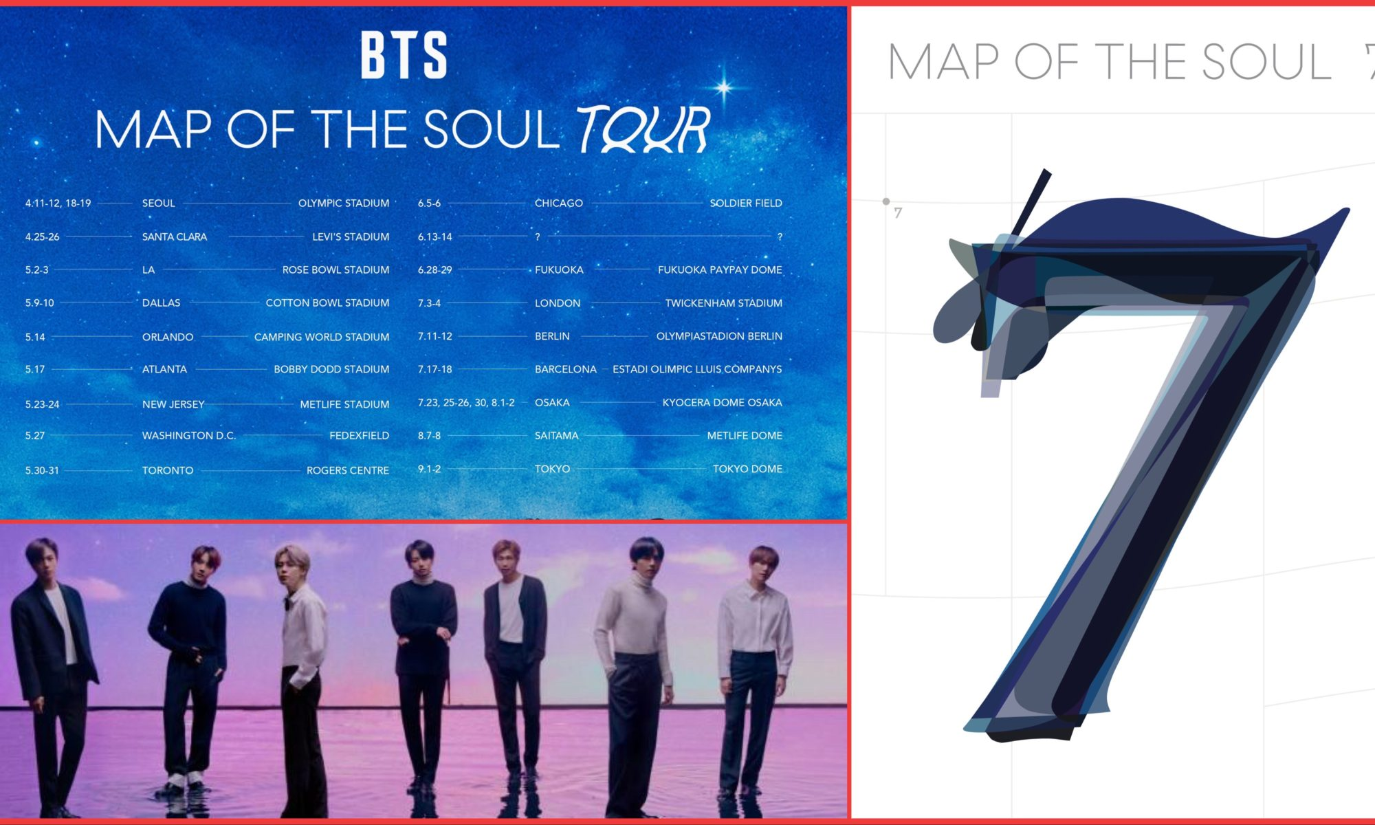 BTS Map of The Soul, concierto en Estados Unidos